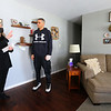 Wyman Group's Cassie Salinas going through a house on the south side of town with Alex Moore on Feb 3, 2021. <br /> Tim Bath   Kokomo Tribune
