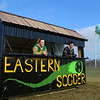 15-year-old Jessica Shannon, left, along with friend and fellow Eagle Scout Josh Shallenberger pose for photos inside the concession stand Shannon designed and built for Eastern High School's soccer fields after the concession stand was placed on the field on January 9, 2021. The concession stand was Shannon's Eagle Scout project.<br /> Kelly Lafferty Gerber | Kokomo Tribune