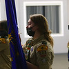 Jessica Shannon, center, practices for an upcoming ceremony during Scout BSA Troop 628's meeting in Greentown on January 18, 2021.<br /> Kelly Lafferty Gerber | Kokomo Tribune