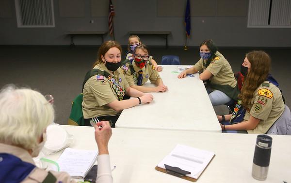 The scouts of BSA Troop 628 meet in Greentown on January 18, 2021.<br /> Kelly Lafferty Gerber   Kokomo Tribune
