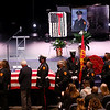 "3-9-21<br /> Kokomo Firefighter Martin ""Marty"" Meyers funeral with full honors at Crossroads Community Church after he died of COVID-19 while an active duty firefighter.<br /> Tim Bath 