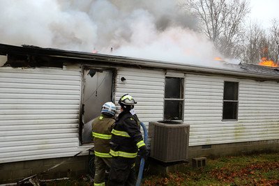 Sharpsville VFD along with Cicero Twp, Wildcat Creek Twp and Taylor Twp VFDs battle a house fire at 5114 North on 550 West in Tipton County on Jan. 5, 2021. Tim Bath | Kokomo Tribune