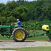 Fred Musselman manuevers a planter he used to use while farming on Thursday, July 1, 2021.<br /> Kelly Lafferty Gerber | Kokomo Tribune