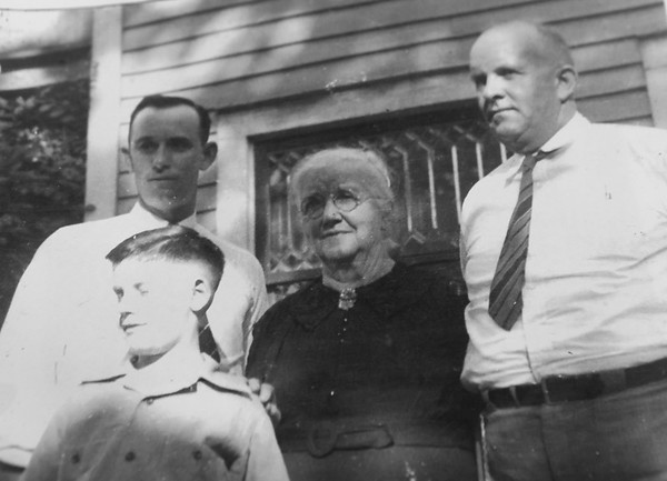 Maury as a kid with his dad, great grandmother and grandfather. There are 7 generations of Musselman farmers.<br /> Kelly Lafferty Gerber   Kokomo Tribune