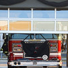 The garage doors are closed at Fire Station 6 after Fire Engine 6, carrying the casket of Captain Marty Meyers, reached the end of the funeral procession on Tuesday, March 9, 2021.<br /> Kelly Lafferty Gerber | Kokomo Tribune