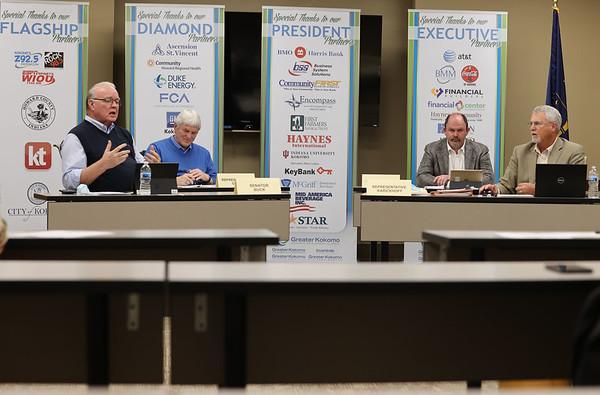 3-5-21<br /> Our Indiana General Assembly representatives, Senator Jim Buck, Rep. Tony Cook, Rep Heath VanNatter, and Rep. Mike Karickhoff during the Third House session online.<br /> Tim Bath   Kokomo Tribune