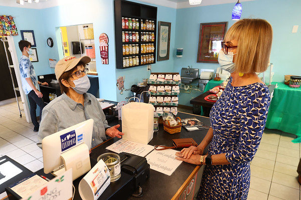 5-5-21 Lt. Governor Suzanne Couch, stopped by the Popcorn Cafe. Tim Bath | Kokomo Tribune