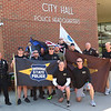 5-12-21<br /> Howard County Sheriff staff, Kokomo Police,  Idiana State Police and Depart of Natural Resource officers participate in a memorial run from the sheriff department to Kokomo City Hall.<br /> Tim Bath | Kokomo Tribune