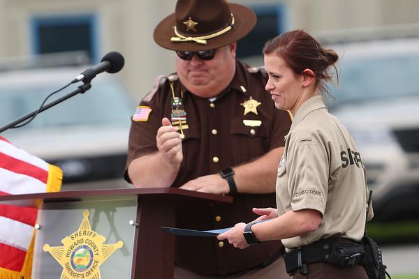 5-6-21<br /> Howard County Sheriff Department's annual inspection ceremony on Thursday.<br /> Tim Bath   Kokomo Tribune