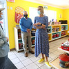 5-5-21<br /> Lt. Governor Suzanne Couch, stopped by the Popcorn Cafe. She talks with owner Grace Jones with State Rep. Mike Karickhoff listening.<br /> Tim Bath | Kokomo Tribune
