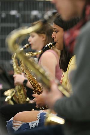 5-12-21<br /> Bela Castorena plays the saxophone during band practice at Northwestern HS They have won the ISSMA All-Music Award again this year.<br /> Tim Bath | Kokomo Tribune