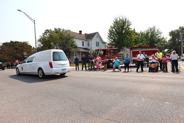 9-12-21 Marine Corps Cpl. Humberto Sanchez's body is flown into Grissom ARB and taken to Logansport in a procession that included over 6000 motorcycles on Sunday. Thousand lined East Market Street to pay their respects. Tim Bath | Kokomo Tribune