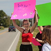 9-3-21<br /> A group of Kokomo High School students protest outside the school on Friday. They are upset with the dress code and being suspended.<br /> Tim Bath   Kokomo Tribune