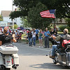 9-12-21<br /> Marine Corps Cpl. Humberto Sanchez's body is flown into Grissom ARB and taken to Logansport in a procession that included over 6000 motorcycles on Sunday. Thousand lined East Market Street to pay their respects until the hour long procession passed by.<br /> Tim Bath | Kokomo Tribune