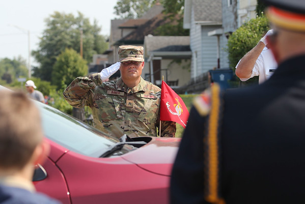 9-12-21<br /> Marine Corps Cpl. Humberto Sanchez's body is flown into Grissom ARB and taken to Logansport in a procession that included over 6000 motorcycles on Sunday.<br /> Tim Bath   Kokomo Tribune