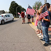 9-12-21<br /> Marine Corps Cpl. Humberto Sanchez's body is flown into Grissom ARB and taken to Logansport in a procession that included over 6000 motorcycles on Sunday. Thousand including Chrisina Carvajal and her family lined East Market Street to pay their respects.<br /> Tim Bath   Kokomo Tribune