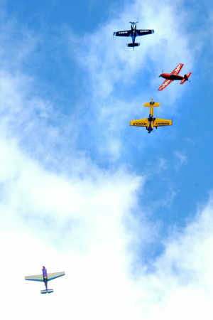 7-24-14 <br /> Airshow practice at Kokomo Municipal Airport in preparation for Saturday's free airshow.<br /> Tim Bath | Kokomo Tribune