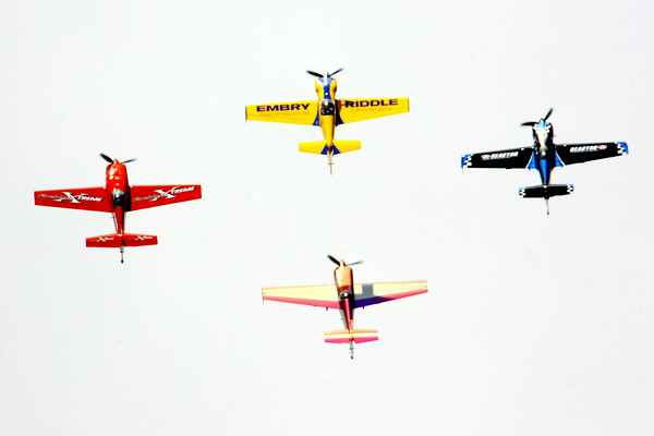 7-24-14 <br /> Airshow practice at Kokomo Municipal Airport in preparation for Saturday's free airshow. Pilots Rob Holland, Bill Stein, Matt Chapman and Jack Knutson perform together.<br /> Tim Bath | Kokomo Tribune