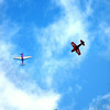 7-24-14 <br /> Airshow practice at Kokomo Municipal Airport in preparation for Saturday's free airshow. Pilots Rob Holland, Rill Stein, Matt Chapman and Jack Knutson perform together.<br /> Tim Bath | Kokomo Tribune