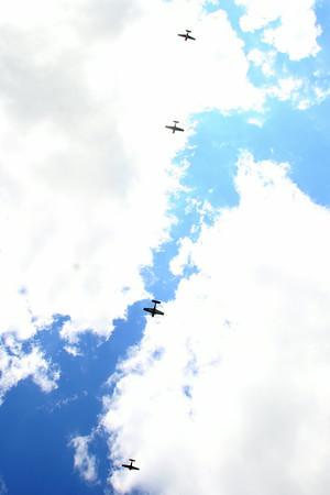 7-24-14 <br /> Airshow practice at Kokomo Municipal Airport in preparation for Saturday's free airshow. Pilots Rob Holland, Bill Stein, Matt Chapman and Jack Knutson perform together.<br /> Tim Bath | Kokomo Tribune