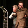 """4-28-13<br /> Tipton Community Theater's 20th anniversary """"Our Town""""<br /> Richard Hull, plays the stage manager, and Scott Burke, plays Professor Willard in Our Town.<br /> KT photo   Kelly Lafferty"""