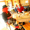 4-25-13<br /> JP, Beth and Clara Sayre have a breakfast snack at the Main Street Cafe.  They are in town to promote the Kelley Miller Circus that will be at Futures Park on May 10.<br /> KT photo | Tim Bath