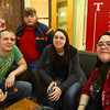 4-24-13<br /> Out and about at IUK's midnight madness<br /> Chris Sweigart, Jonathon Bogue, Amanda Rutherford, Olivia Rutherford<br /> KT photo   Kelly Lafferty
