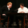 """4-28-13<br /> Tipton Community Theater's 20th anniversary """"Our Town""""<br /> Daniel Clymer, playing Dr. Frank Gibbs, speaks to Ethen Atkisson, playing George Gibbs in """"Our Town"""" put on by the Tipton Community Theater.<br /> KT photo   Kelly Lafferty"""