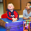 4-11-14<br /> Dream Makers day care<br /> Ethan Dowden and Nadiya Bennett make the sound a cow makes as they are read a book by Sandara Young at Dream Makers Day Care.<br /> Kelly Lafferty | Kokomo Tribune