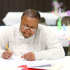 4-9-14<br /> Aiming for Success-job fair which encourages candidates with felony records to attend<br /> Opal Johnson fills out applications at the job fair called Aiming For Success.<br /> Kelly Lafferty | Kokomo Tribune