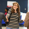 4-9-14<br /> Aiming for Success-job fair which encourages candidates with felony records to attend<br /> Loretta Manier shakes hands with a possible future employer at Aiming for Success job fair at Mt. Pisgah Church on Wednesday.<br /> Kelly Lafferty | Kokomo Tribune