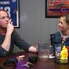 4-25-14<br /> Jack Paul smokes as he talks with Nicci Kucholick at Mulligans Sports Pub.<br /> Kelly Lafferty   Kokomo Tribune