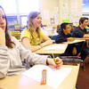 4-1-14   --- Exchange students from Finland at Central Middle School. Round table discussions with exchange student Sara King and Central Student Grace Lefler.  -- <br />   Tim Bath | Kokomo Tribune