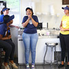 4-17-14<br /> Kokomo frozen custard<br /> Kokomo Frozen Custard employees from left, Kahdijah Brooks, MaryKate Balsbaugh, Paris Roney, and Meghan McCauley share a light-hearted moment inside Kokomo Frozen Custard.<br /> Kelly Lafferty | Kokomo Tribune