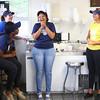 4-17-14<br /> Kokomo frozen custard<br /> Kokomo Frozen Custard employees from left, Kahdijah Brooks, MaryKate Balsbaugh, Paris Roney, and Meghan McCauley share a light-hearted moment inside Kokomo Frozen Custard.<br /> Kelly Lafferty | Kokomo Tribune