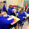 4-2-14   --- Sts. Joan of Arc & Patrick School 8th graders in Mrs Cindy McClure's math class where they have gone 100 days without missing a homework assignment. -- <br />   Tim Bath   Kokomo Tribune