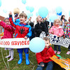 4-2-14<br /> From left: Lainey B., Hayden B., Jack S. (front), Serenity L., Whitney M., and Jhordyn B. release their balloons at Bona Vista for Autism Awareness Day.<br /> KT photo   Kelly Lafferty
