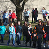 4-22-14<br /> Take Back the Night/Angel Walk<br /> Participants in the Angel Walk walk from IUK's campus on Washington Street during Take Back the Night on Tuesday evening.<br /> Kelly Lafferty | Kokomo Tribune