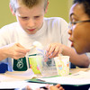 3-17-14   --- Bon Air School 3rd graders spend time at Ivy Tech to give them an idea of what college is like. During a science experiment Jeremiah Dunham pulls the silly putty that he made out of a cut to put in a baggie to take home.  -- <br />   Tim Bath | Kokomo Tribune