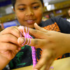 4-24-14   --- Sycamore Elementary 5th graders make bracelets to raise money for Relay for Life. -- <br />   Tim Bath | Kokomo Tribune