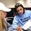 4-9-14<br /> First generation college student, Keeana Walton<br /> Keeana Walton (right) works in a group with Breanna Kinder (left) in their English class at IUK.<br /> Kelly Lafferty | Kokomo Tribune