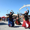 4-19-14<br /> Farmers Market<br /> From left: Mimi Amos, Maria Spratford, and Kathy Calhoun of Muse Carnivale belly dance at the opening day of Kokomo's Farmers' Market.<br /> Kelly Lafferty | Kokomo Tribune