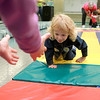 8-11-12<br /> Baby Expo at IUK<br /> Ocean Stipek, 2, crawls to the open arms of her sister Heaven, 7, during the Diaper Derby at the Baby and Kids Expo on Saturday at IUK.<br /> KT Photo | Kelly Lafferty