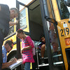 8-14-12<br /> Minor bus accident at Hoffer and Webster<br /> Elwood Haynes students give their information to officers after a minor bus accident at Hoffer and Webster on Tuesday afternoon.<br /> KT photo | Kelly Lafferty