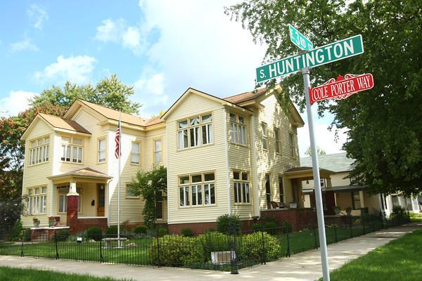 8-17-12<br /> Cole Porter Home<br /> 19 S Huntington Street at E. 3rd Street<br /> Peru, IN.<br /> KT photo | Tim Bath