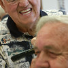 8-22-12<br /> Don's Barbershop<br /> 73-year-old Don Wisher trims the hair of Larry Larowe as they exchanges stories at Don's Barbershop.  Wisher went to school at International Barber and Beauty School in Indianapolis and started barbering in 1960.<br /> KT photo | Kelly Lafferty