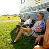 8-23-12<br /> USAC fans camping at Kokomo Speedway.<br /> Bob Clauson(right) from California with friends from all over the country.<br /> KT photo | Tim Bath