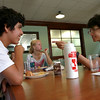 8-10-12<br /> International Dorm<br /> Oscar Gandara Hernandez, 15, of Mexico talks with Keita Komatsuzaki, 16, of Japan during dinner at the international dorm.<br /> KT Photo | Kelly Lafferty
