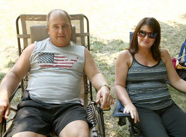 8-25-12<br /> Out and About Winding Creek bluegrass festival<br /> Larry and Kim Mote<br /> KT photo | Kelly Lafferty