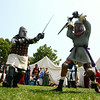 8-2-14<br /> Medieval Festival benefiting Day of CHANGE<br /> Members of the Empire of Chivalry and Steel battle during a steel demonstration at the Medieval Festival, benefiting Day of CHANGE in Foster Park on Saturday.<br /> Kelly Lafferty | Kokomo Tribune